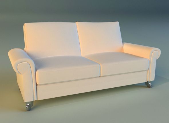 Sofa  white modern white - 3DOcean Item for Sale