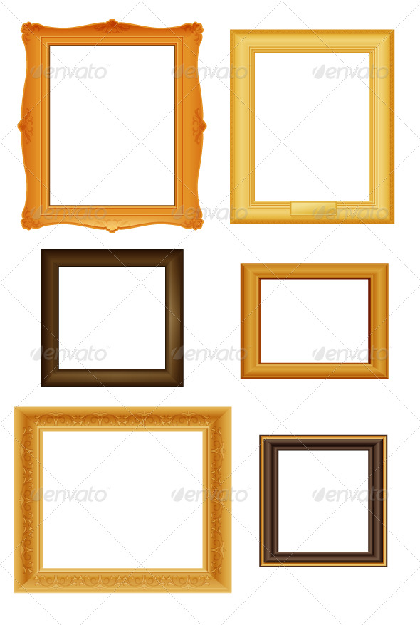 GraphicRiver Picture frames vector set 168147