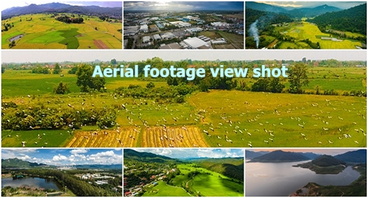 Aerial footage view shot