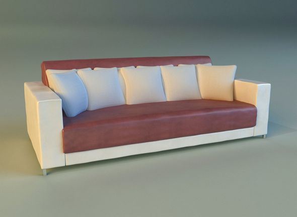 Sofa leather pillows long - 3DOcean Item for Sale