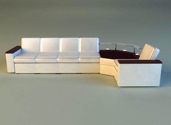 Corner modern sofa - 3DOcean Item for Sale