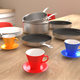 Kitchen kit - cooking pot, stove, plate and mugs
