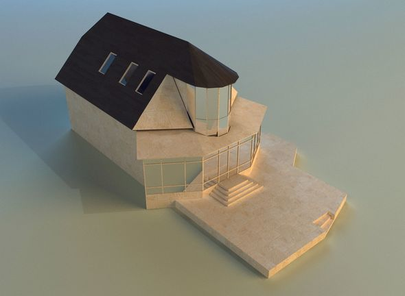 House lowpoly - 3DOcean Item for Sale