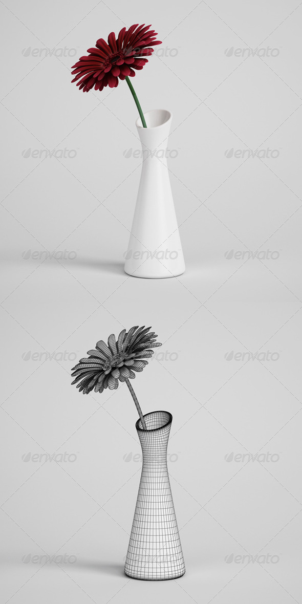 CGAxis Flower in Vase 01 - 3DOcean Item for Sale