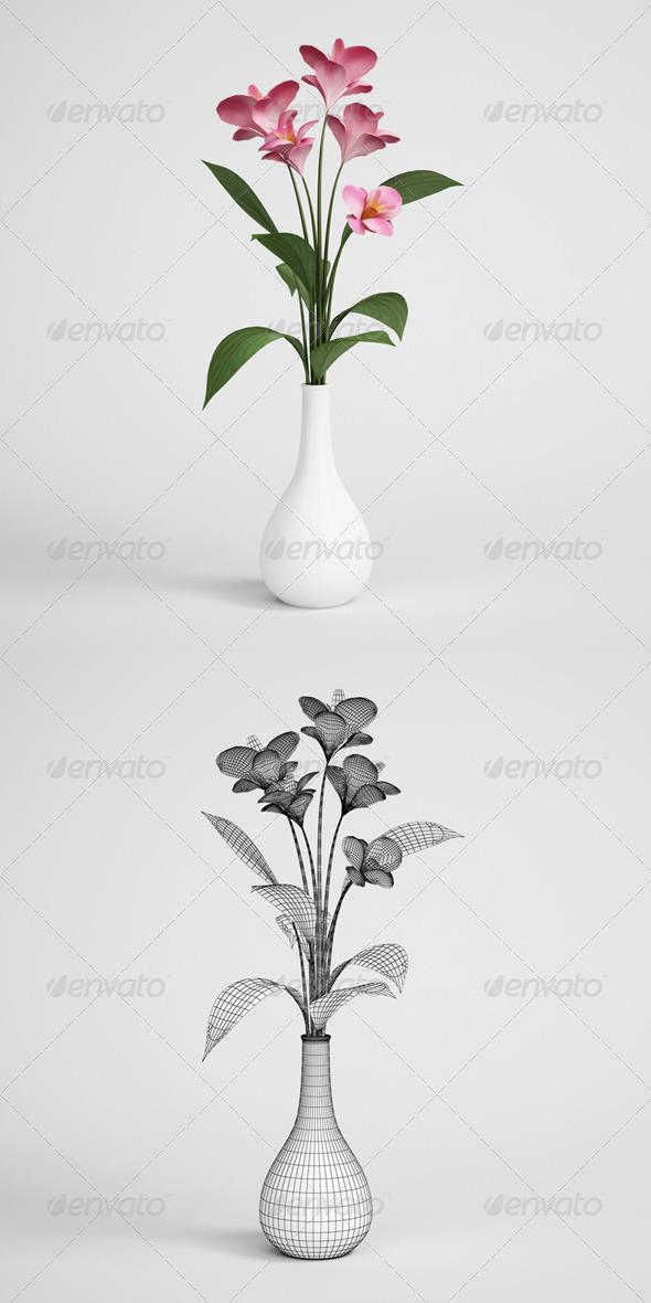 3DOcean CGAxis Flowers in Vase 02 168174
