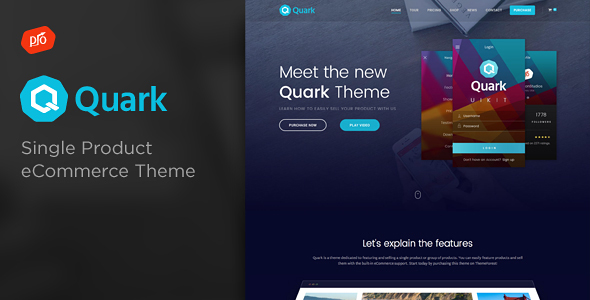 Фото Премиум тема Wordpress  Quark - Single Product eCommerce Theme — 0 Preview Quark.  large preview