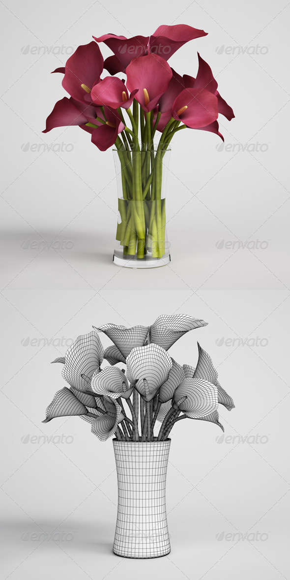 CGAxis Flowers in Vase 08 - 3DOcean Item for Sale