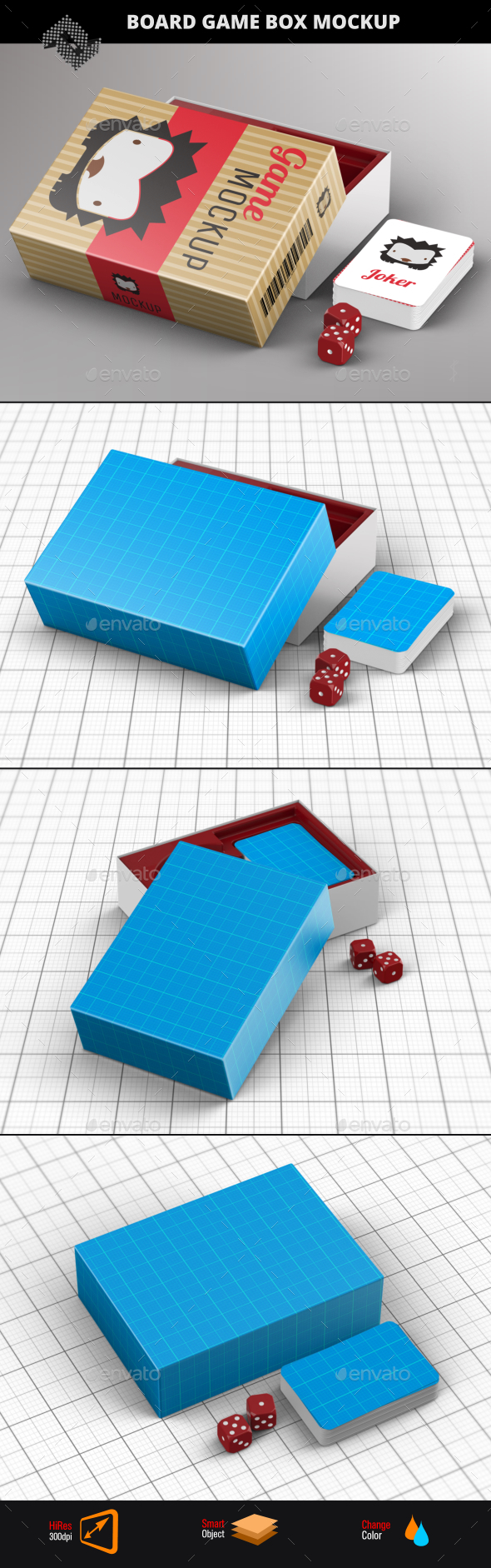 Board Game Box Mockup