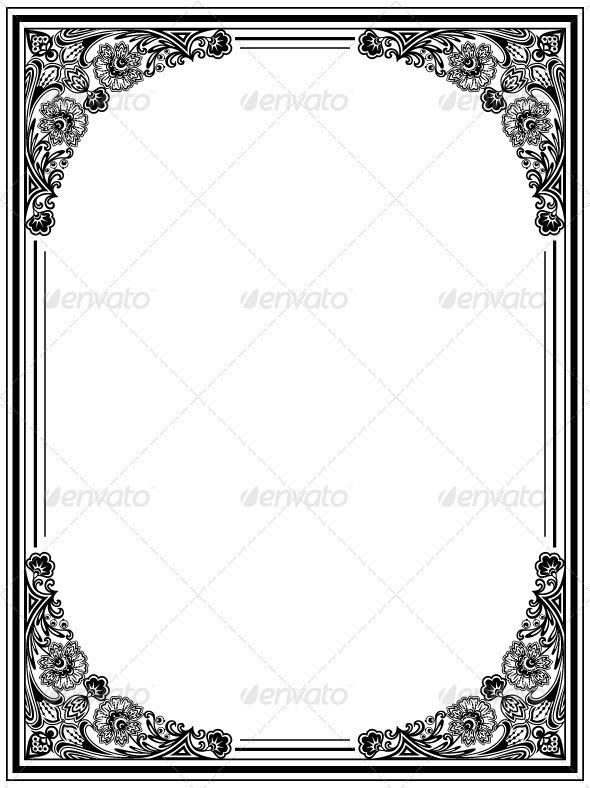 Graphic River Decorative frame Vectors -  Decorative  Borders 1415249