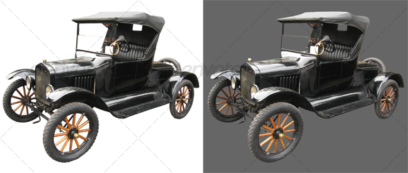 Antique car 01 - Industrial & Science Isolated Objects