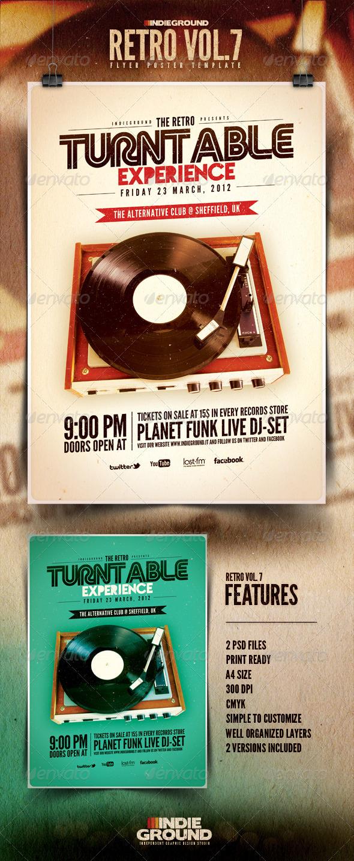 GraphicRiver Retro Flyer Poster Vol 7 1189611