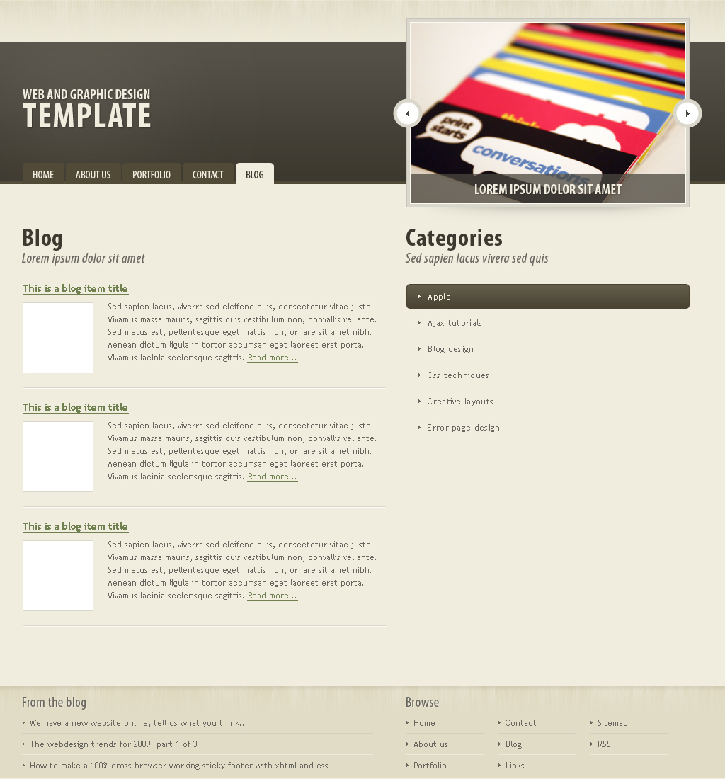 Dark brown portfolio theme