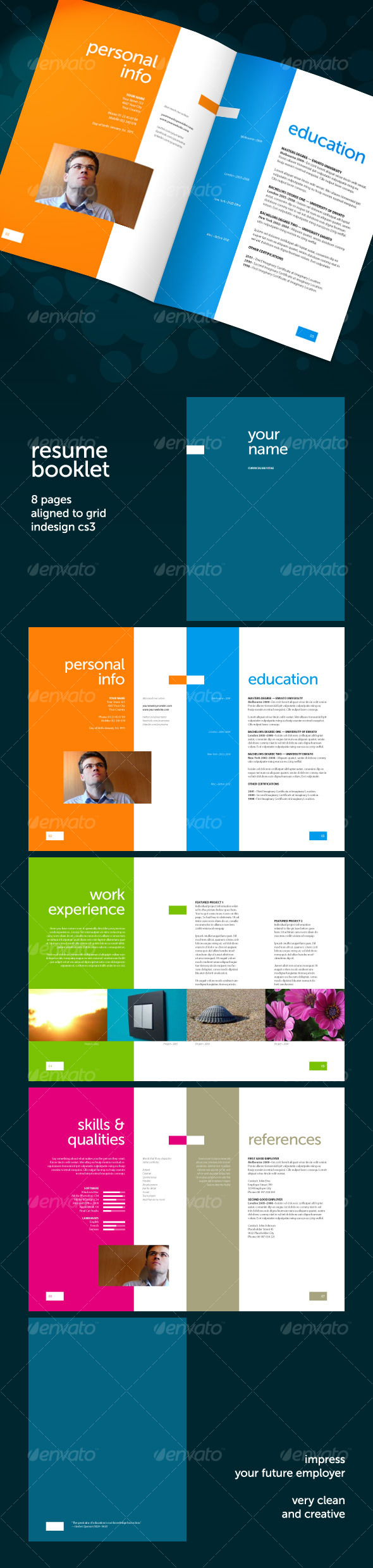 resume booklet template