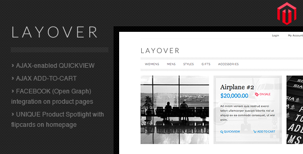 Layover Magento - ThemeForest Item for Sale