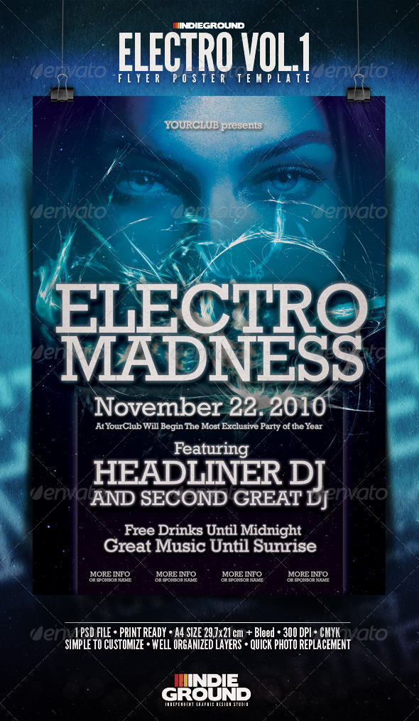 GraphicRiver Electro Flyer Poster 139111