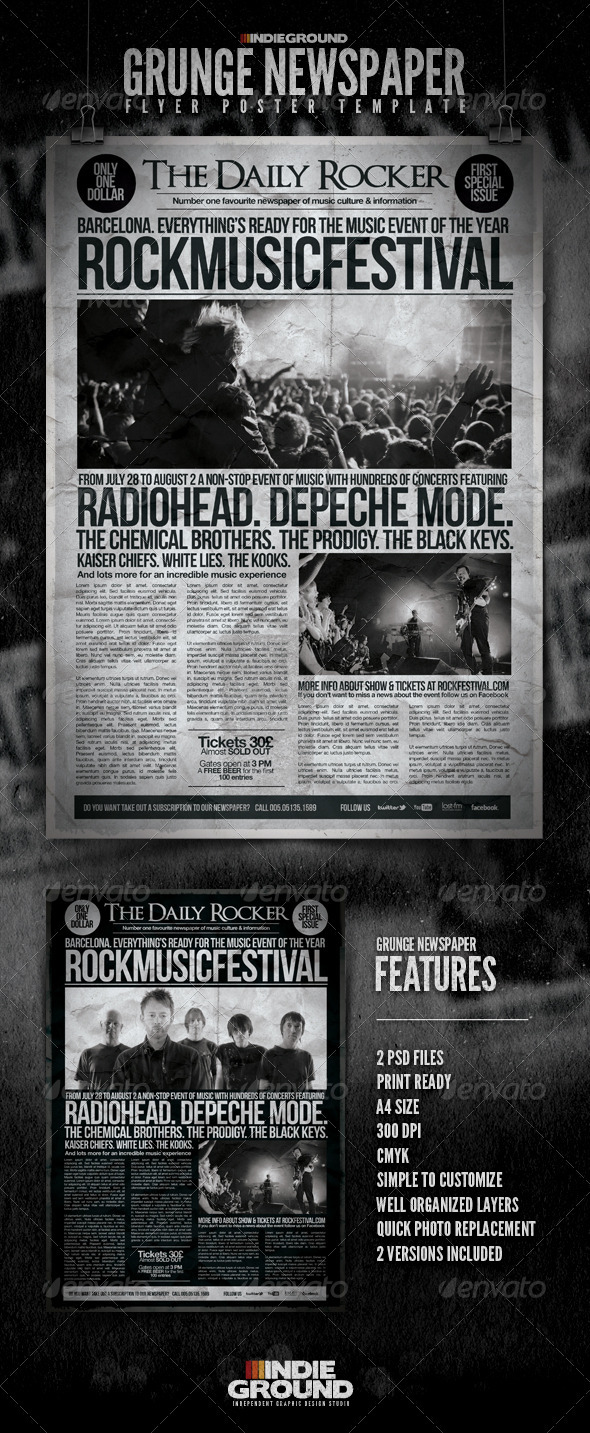Grunge Newspaper Flyer/Poster