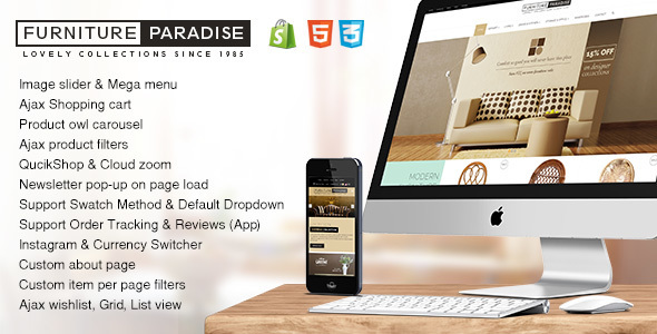 Furniture Paradise - Responsive Furniture Shopify Theme