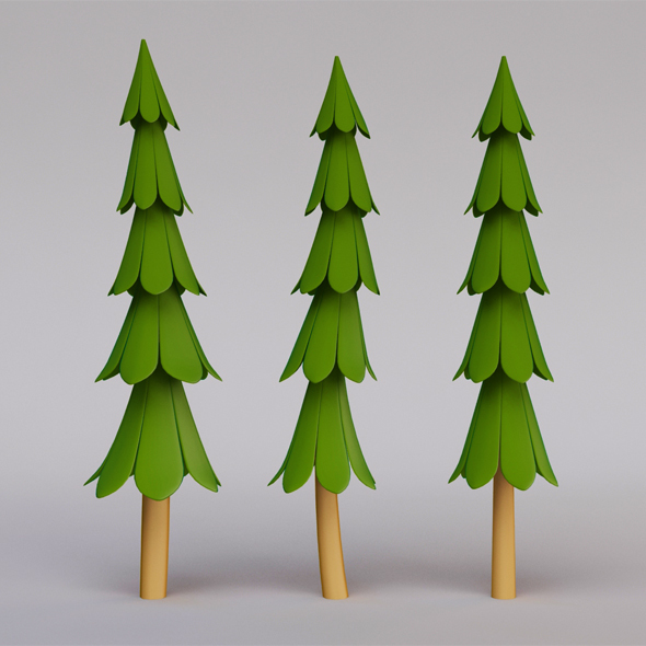 Stylized Christmas Tree - 3DOcean Item for Sale