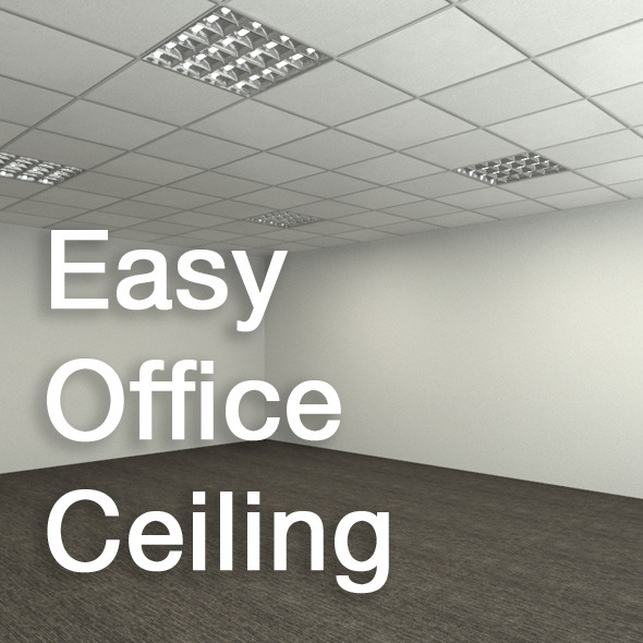Easy Office Ceiling - 3DOcean Item for Sale