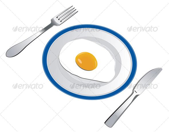 Fried egg - Food Objects