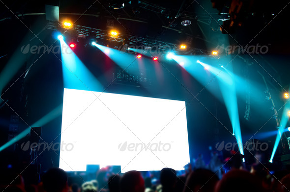 PhotoDune Rock concert white screen isolated clipping path 1419500