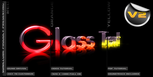 After Effects Project - VideoHive 3D Crystal Glass Text Audio Driven Illuminated 147059