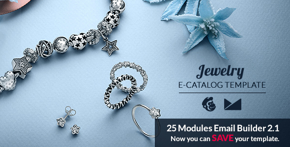 Jewelry Email Template + Online Emailbuilder 2.1