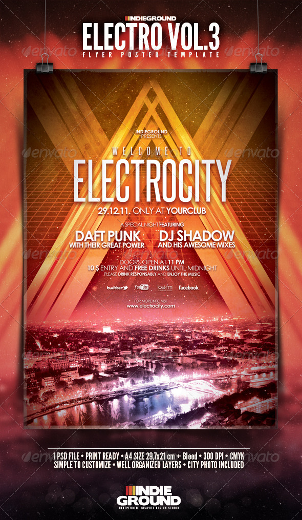 Electro Flyer/Poster Vol. 3 - Clubs & Parties Events