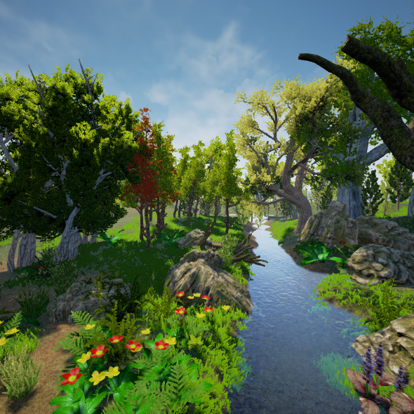 Realistic Forest Pack [ Unreal Engine ] - 3DOcean Item for Sale