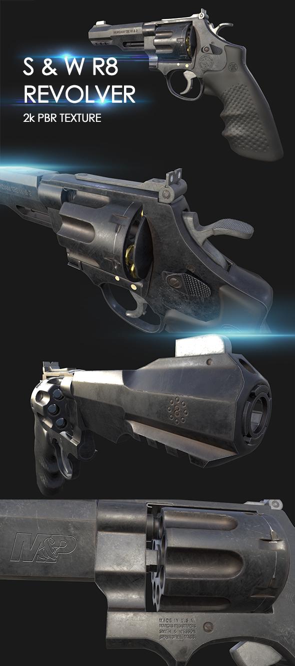 R8 Revolver - 3DOcean Item for Sale