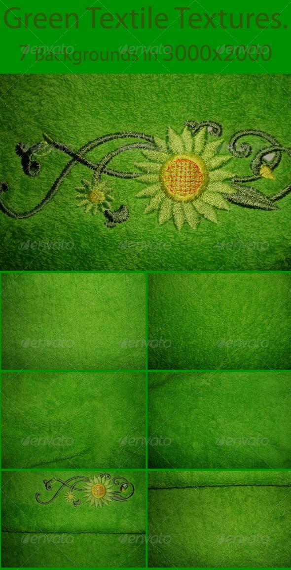 Green Textile Textures - Fabric Textures