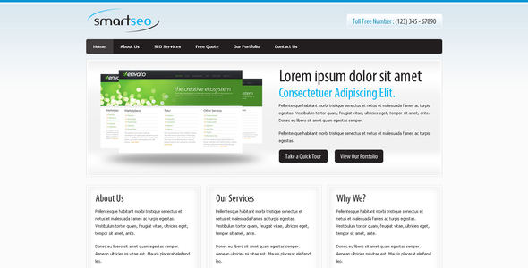Smart Seo - A Simple Clean Elegant Corporate Theme