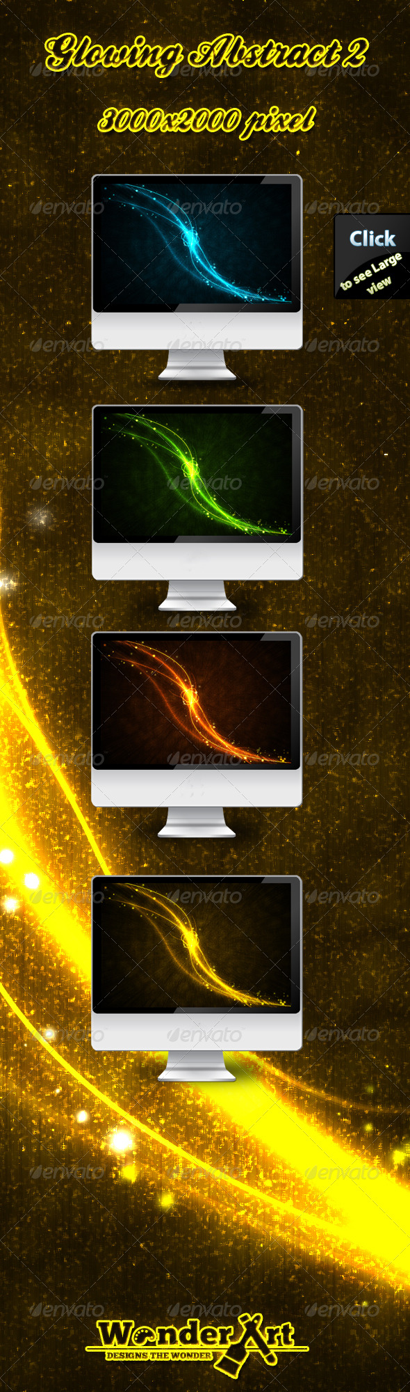 GraphicRiver Glowing Abstract Backgrounds 2 168561