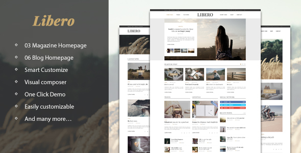 Download Libero - Simple, Elegant Magazine & Blog nulled download