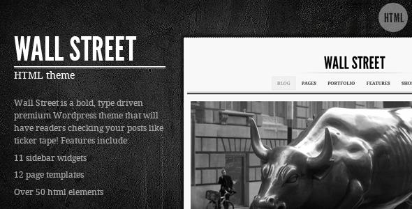 Wall Street HTML Theme
