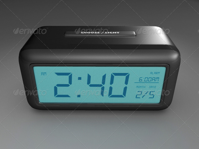 Digital Alarm Clock - 3DOcean Item for Sale