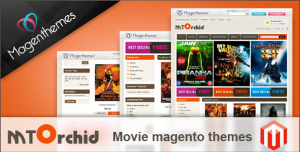 ThemeForest MT Orchid Movie magento themes 168888