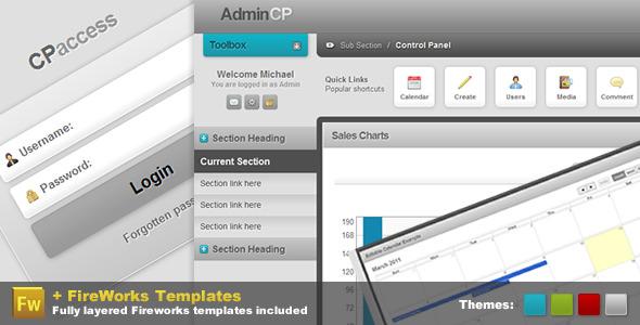 ThemeForest Admin Control Panel Pro CP 168266