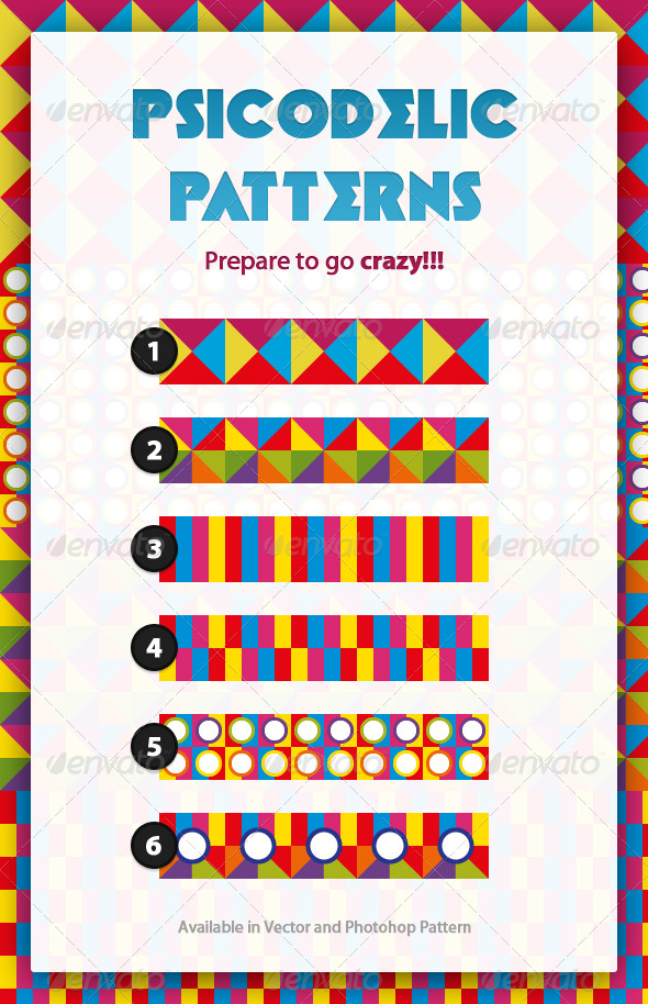 GraphicRiver Psicodelic Patterns 168904