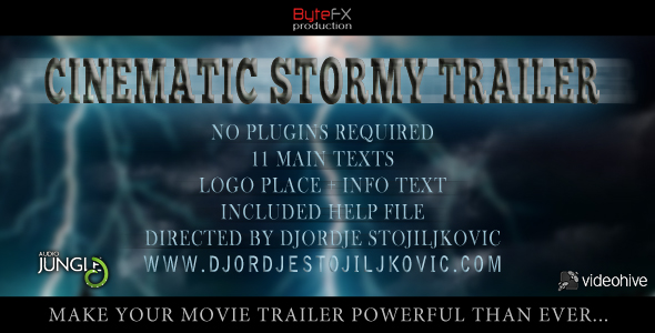After Effects Project - VideoHive Cinematic Stormy Trailer 168712