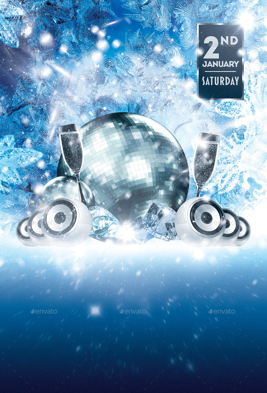 let it snow winter party flyer template by designroom1229 01 let it snow flyer template jpg