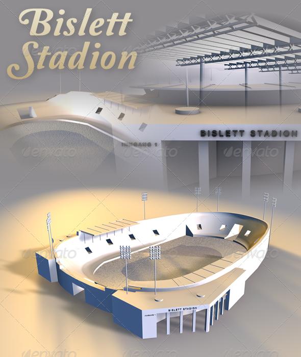 Bislett Stadion - 3DOcean Item for Sale