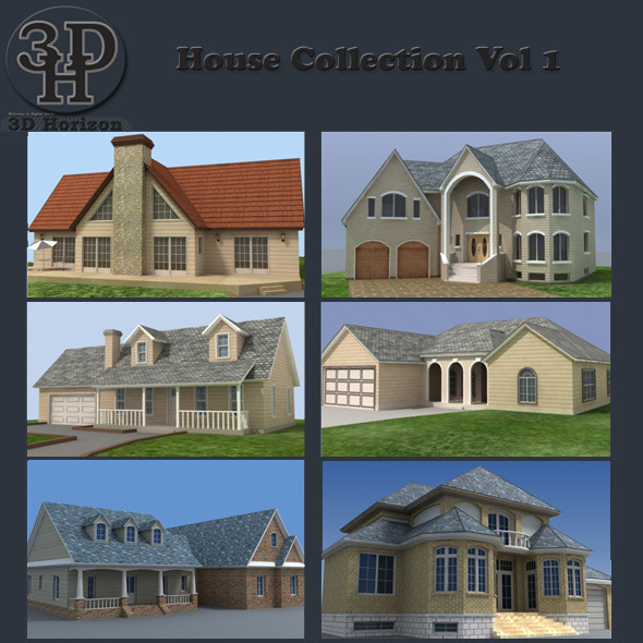 House Collection Vol 1 - 3DOcean Item for Sale