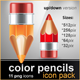 Color Pencils Icons Pack - GraphicRiver Item for Sale