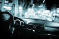 Wedding chauffeur driving marriage car