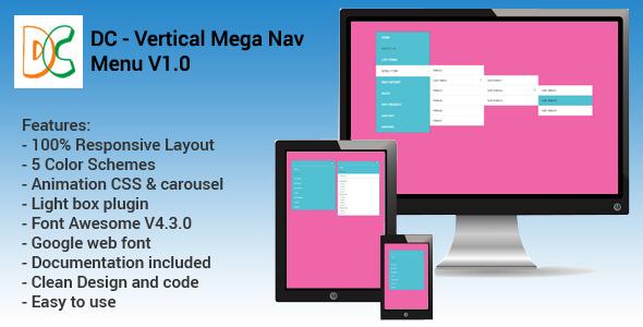 DC – Vertical Responsive Mega Nav Menu V1.0 (Navigation) Download