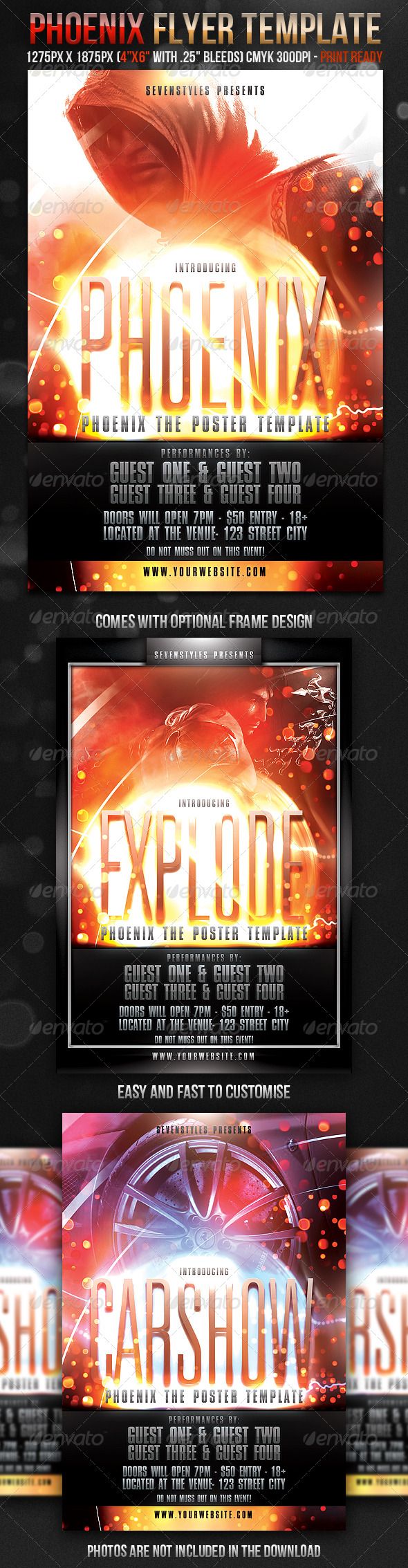 Phoenix Flyer Template - GraphicRiver Item for Sale