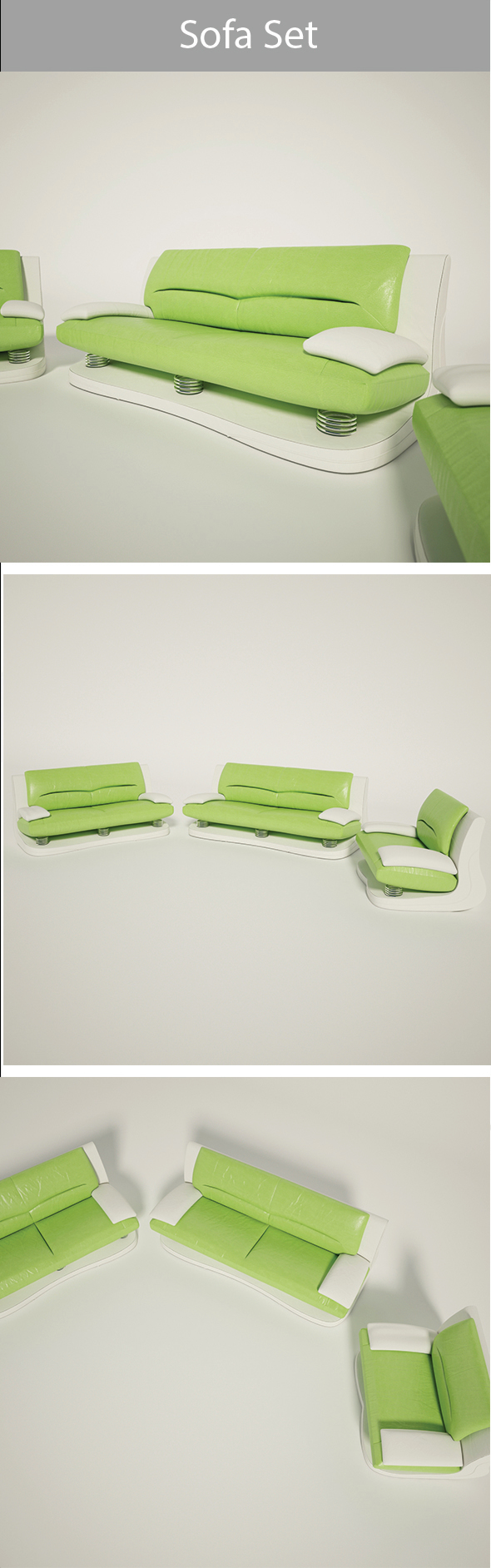 Sofa Set-02 - 3DOcean Item for Sale