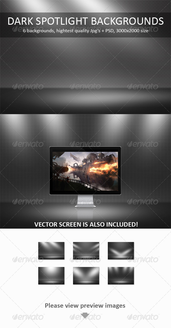 Dark Spotlight Backgrounds - Backgrounds Graphics