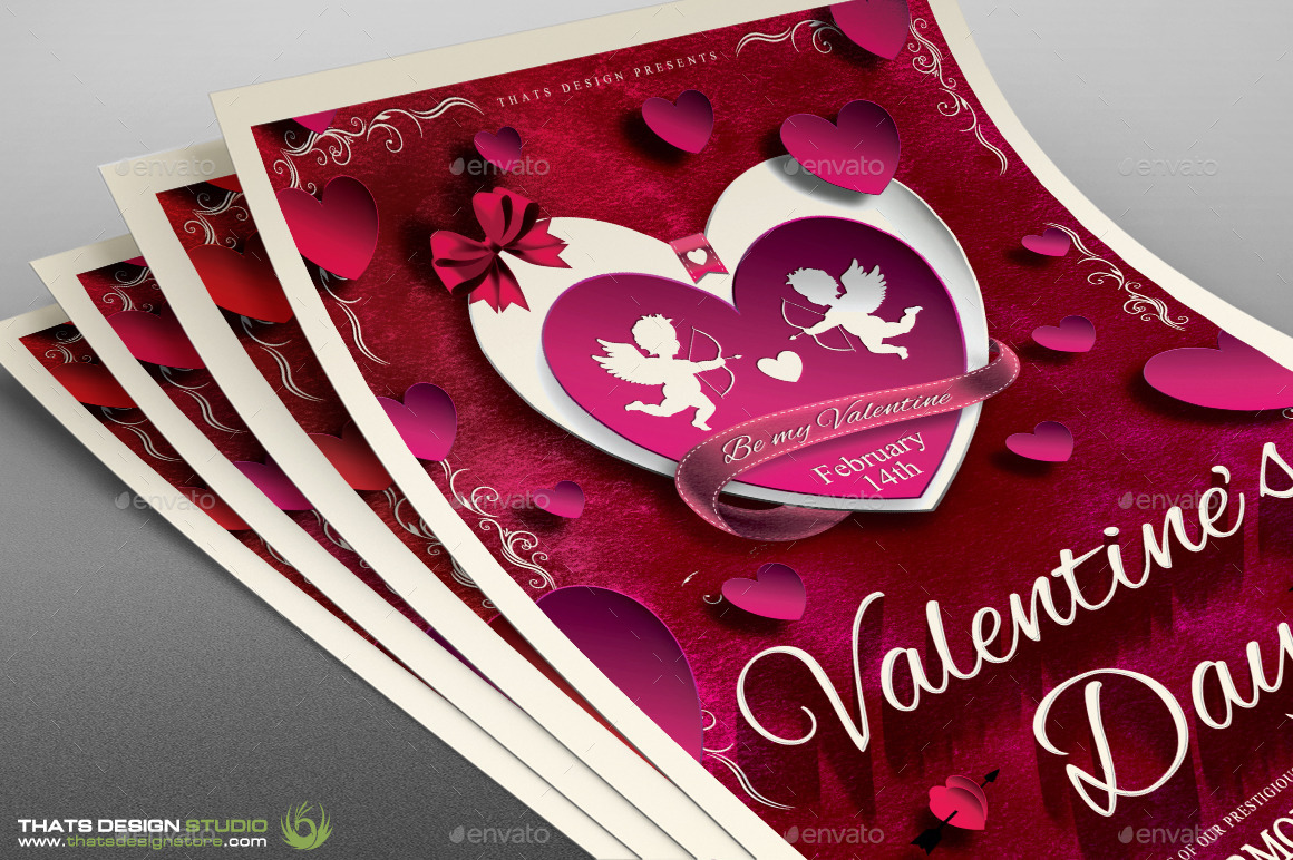 Fabulous Valentines Day Brochure Template